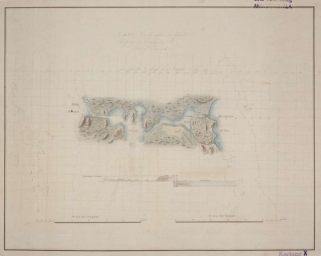 R. W. Holmström. Relationskarta över verkställd sprängning vid Forsvik station1810-1812. Enligt Göta kanalbolagets uppgifter fanns Holmström med under åren 1810-1812 och ritade relationskartor över arbeten i både Västergötland och Östergötland. Det var i Forsvik grävningarna började och 1813 stog den första av de 58 slussarna klar där.