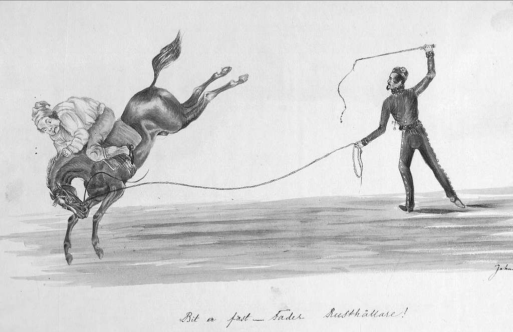 John Arsenius, född 1818. Officer vid K 3 1838-1868. Känd konstnär, framför allt hästmålningar. Söner:  Georg -- Konstnär. Sam -- Officer, fältjägare. Bit er fast -- fader rusthållare.