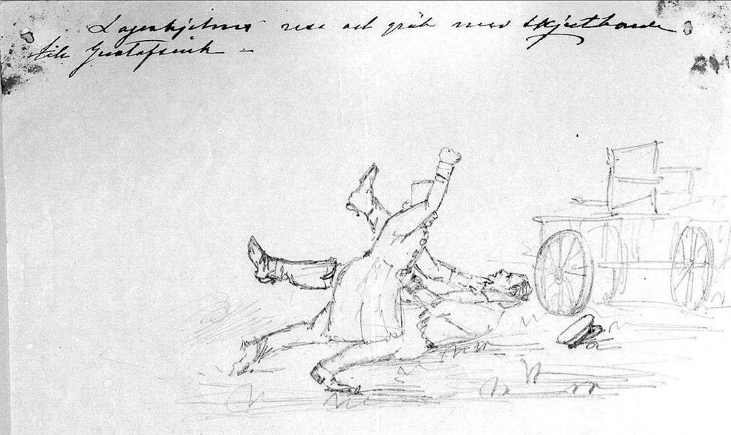 John Arsenius, född 1818. Officer vid K 3 1838-1868. Känd konstnär, framför allt hästmålningar. Söner:  Georg -- Konstnär.  Sam -- Officer, fältjägare. Lagerhielms resa och gräl med skjutsbonden, till Gustafsvik.