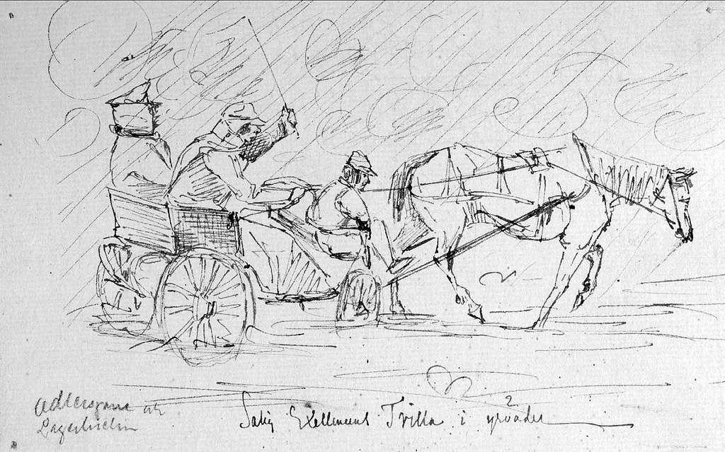 """John Arsenius, född 1818. Officer vid K 3 1838-1868. Känd konstnär, framför allt hästmålningar. Söner:  Georg -- Konstnär. Sam -- Officer, fältjägare. Adlersparre och Lagerhielm i """"salig Exerlensens"""" Trilla i yrväder."""