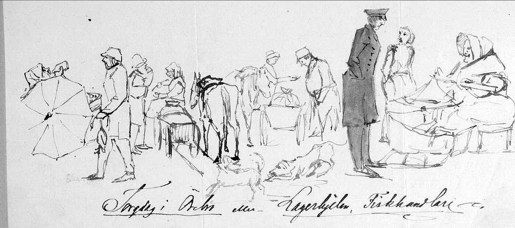 John Arsenius, född 1818. Officer vid K3 1838-1868. Könd konstnär, framför allt hästmålningar. Söner:  Georg -- Konstnär. Sam -- Officer, fältjägare. Torgdag i Örebro eller Lagerhielm, Fiskhandlare