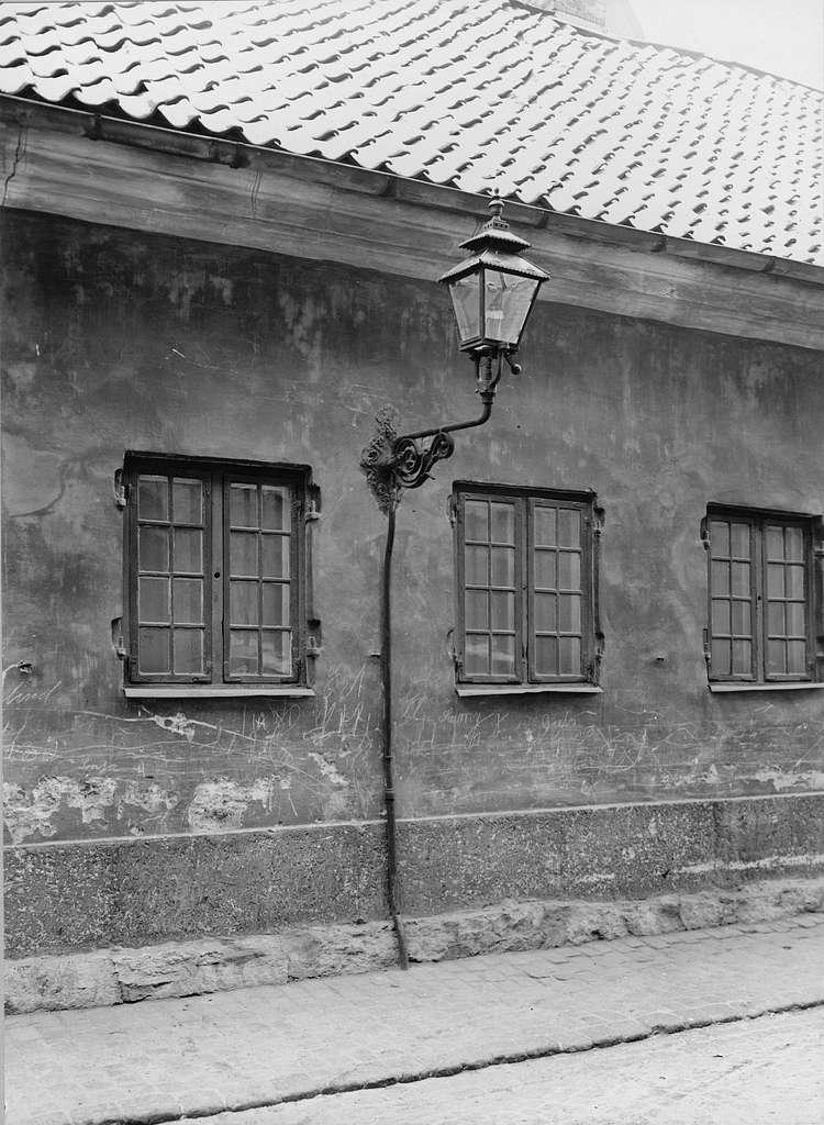 """Gatlykta för snittbrännare """"Läderlappsbrännare"""" i Göteborg på 1850-talet."""