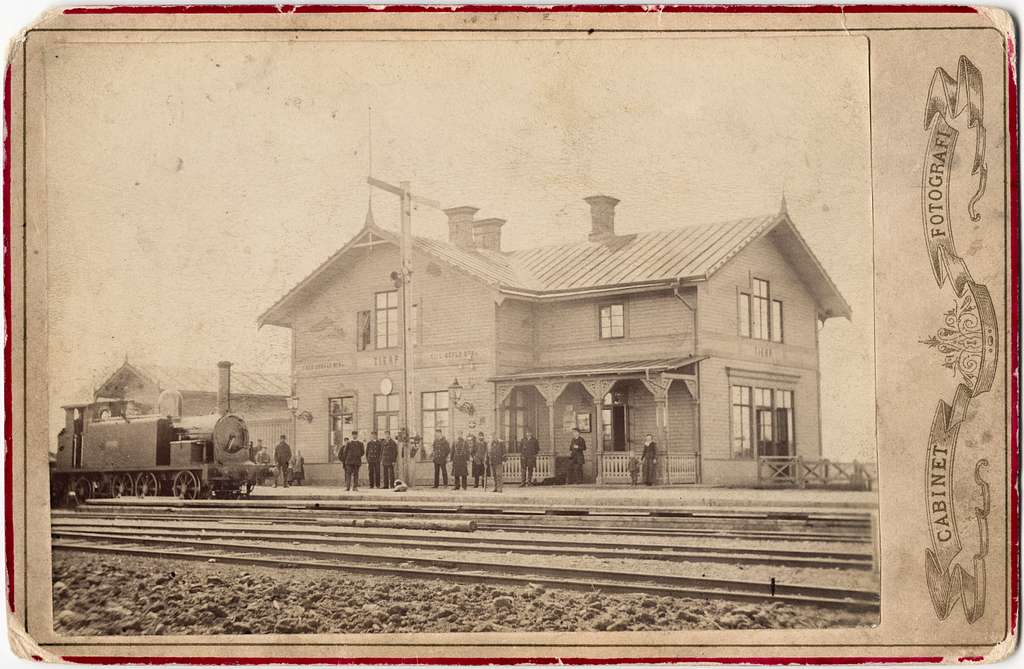 Järnvägsstationen i Tierp, Uppland