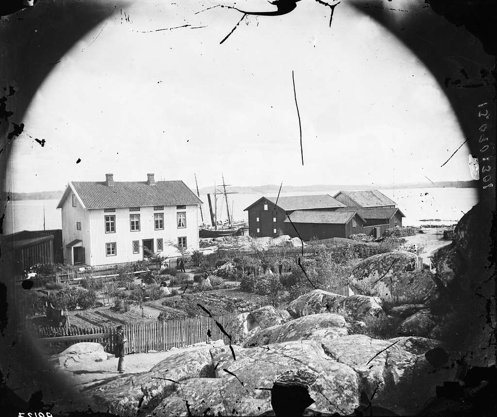 Tullhuset i Lysekil vid slutet av 1850-talet.