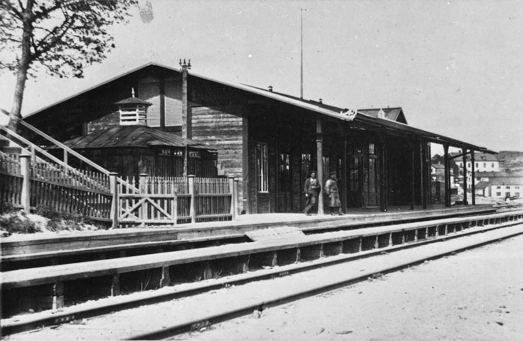 Gamla stationshuset. Liljeholmens Stationen togs i bruk1860 .