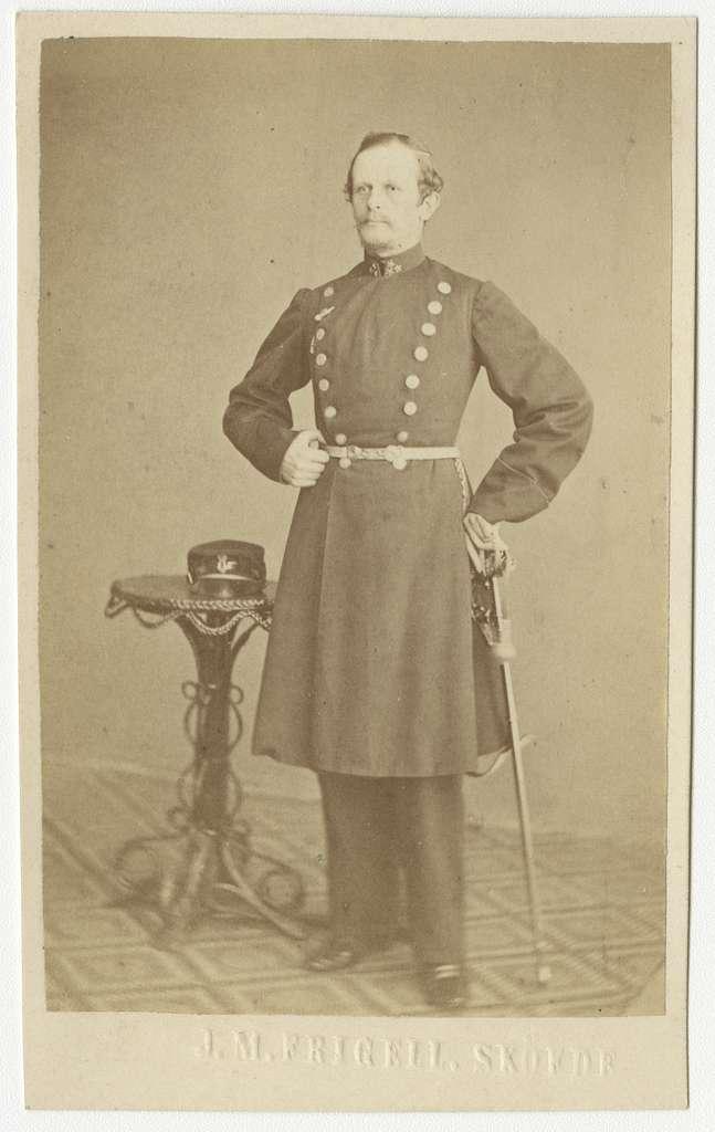 Porträtt av Adolf Emanuel Gillner, kapten vid Västgöta regemente I 6.
