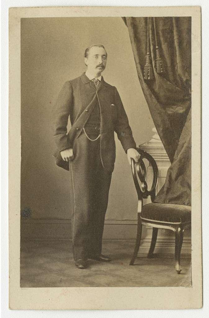 Porträtt av Axel Ferdinand Braune, officer vid Göta artilleriregemente A 2.