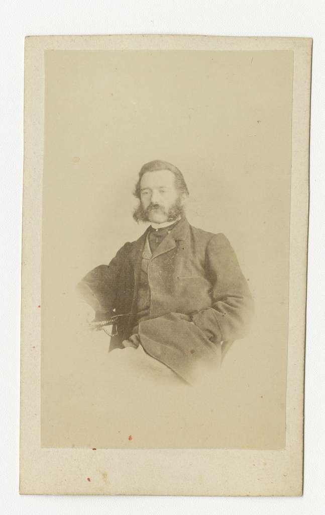 Porträtt av Carl Otto Övergaard, officer vid Skaraborgs regemente I 9.Se även bild AMA.0002185 och AMA.0009627.