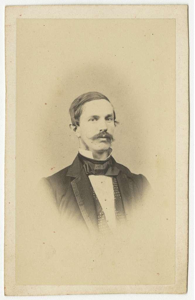 Porträtt av Gustaf Wilhelm Wollrath Tham, officer vid Västgöta regemente I 6.Se även bild AMA.0009114