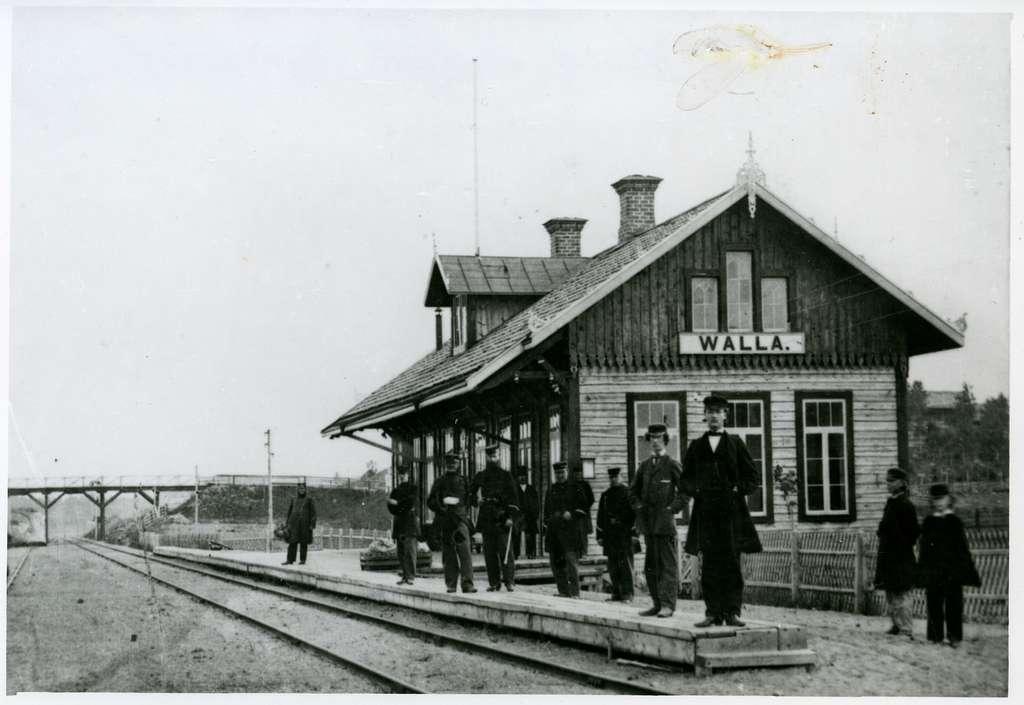 Valla station 1860-talet.