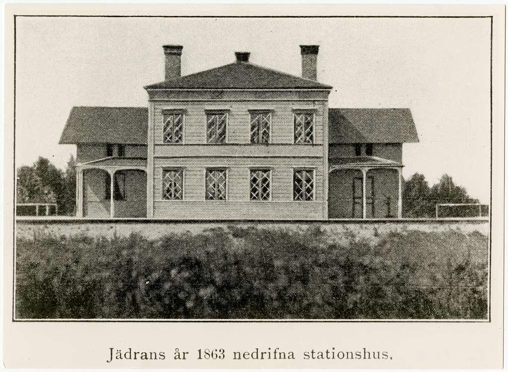 Gävle - Dala Järnväg, GDJ  Jädran=Boänge Jädrans år 1863 nedrivna stationshus.