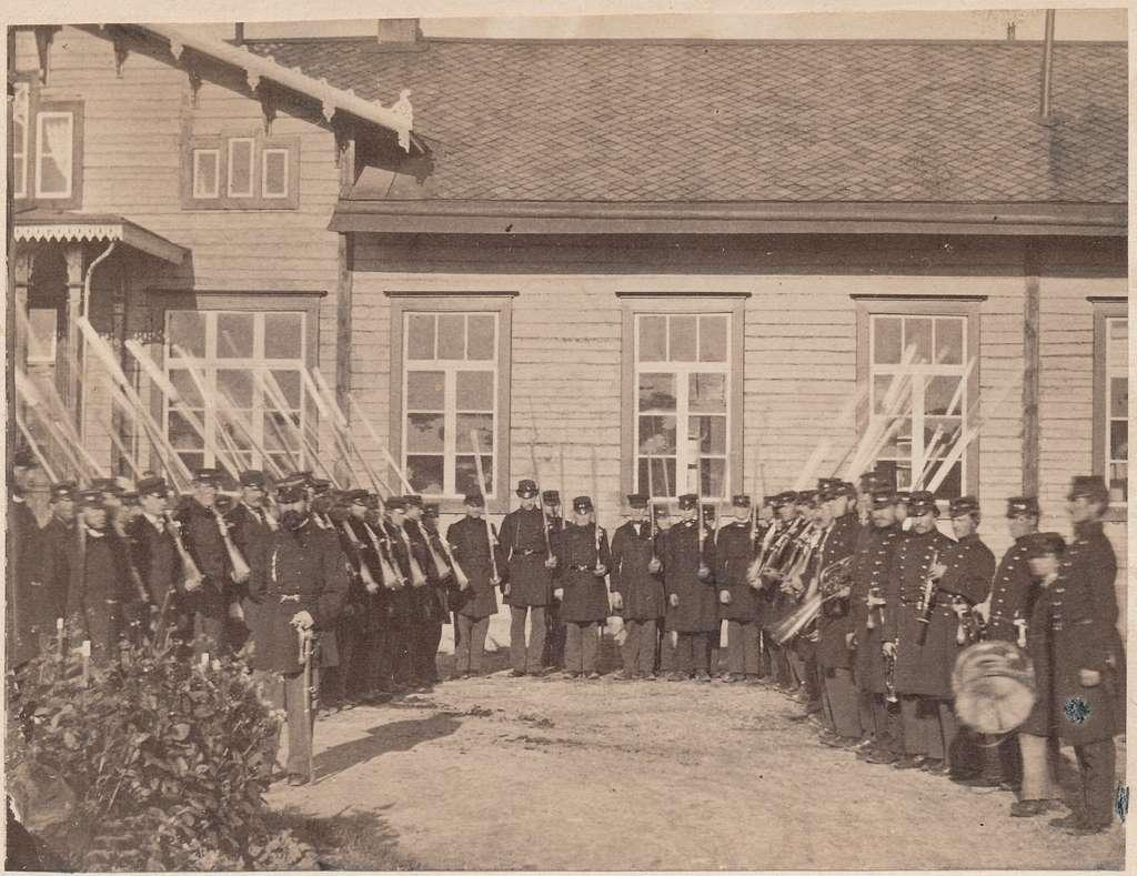 Hallsbergs station år 1863
