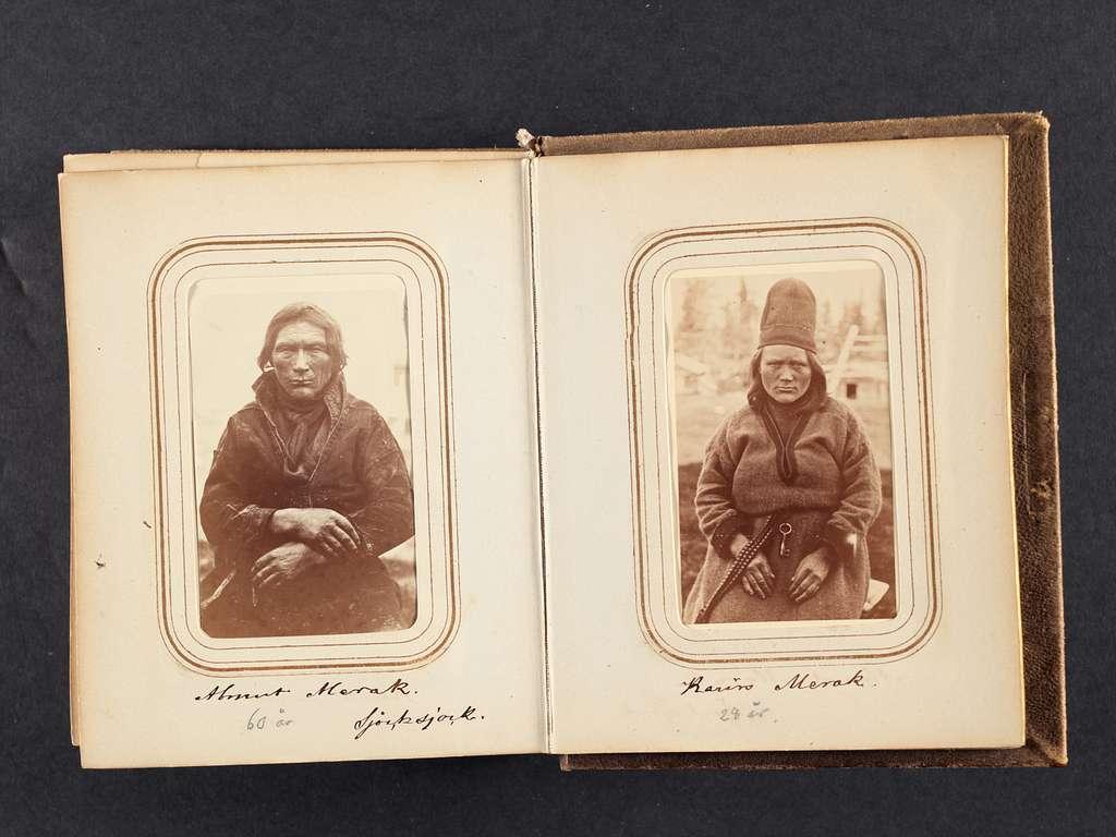 Fotoalbum med porträtt tagna under von Dübens expedition till Lappland, 1868