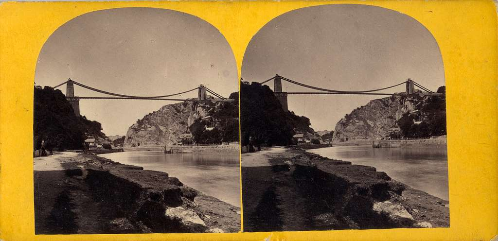 Stereobild av Clifton Suspension Bridge.