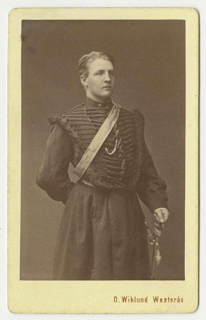 Porträtt av Gustaf Henrik Johan Queckfeldt, underlöjtnant vid Skånska dragonregementet K 6.