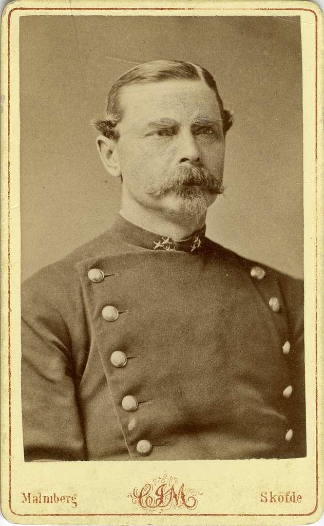 Porträtt av Otto Wilhelm Claes Johan Nordenfalk, kapten vid Södermanlands regemente I 10.Se även bild AMA.0008117.