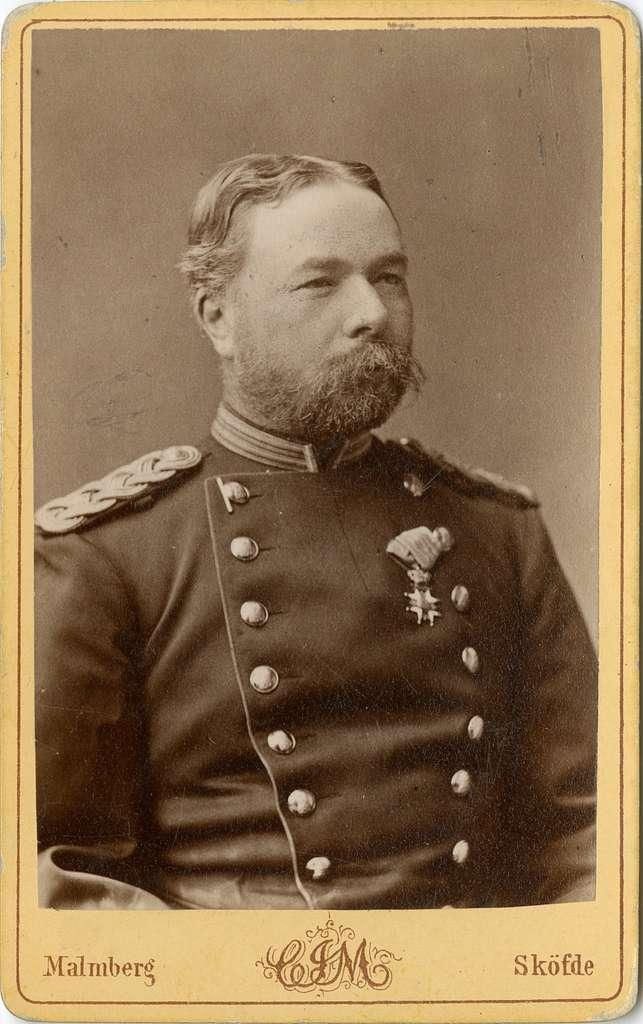Porträtt av Carl Otto von Gedda, officer vid Jönköpings regemente I 12.Se även bild AMA.0007362 och AMA.0007387.