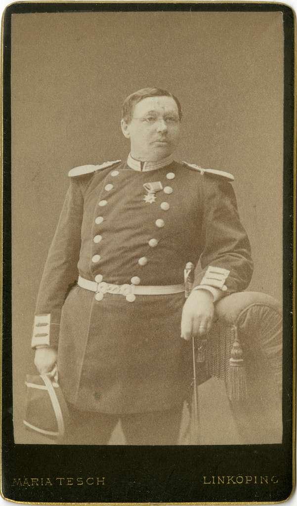 Porträtt av Adolf Fredrik Christian af Klercker, officer vid Andra livgrenadjärregementet I 5.