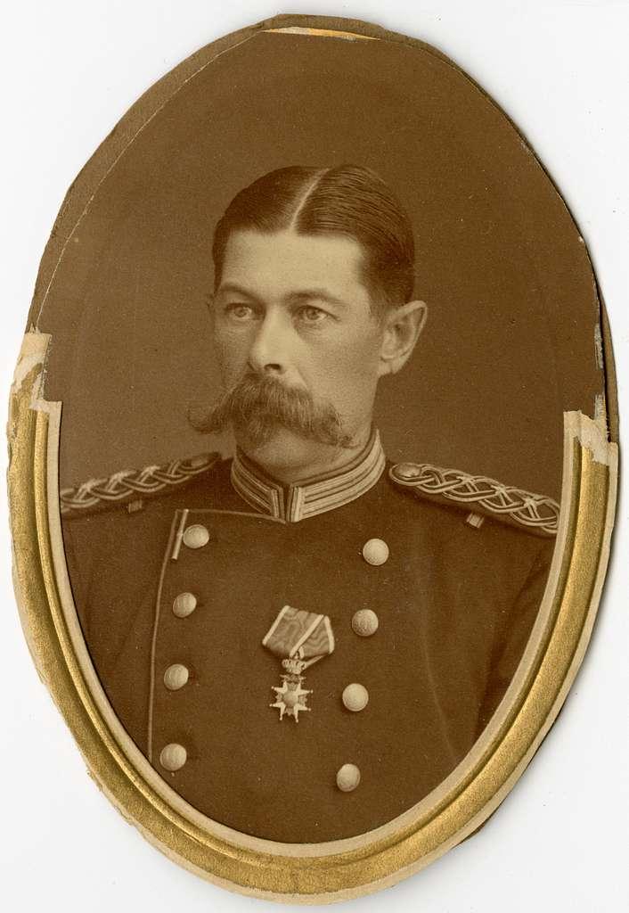 Porträtt av Gustaf Werner von Schwerin, överstelöjtnant vid Västmanlands regemente I 18.Se även bild AMA.0002345 och AMA.0005513.