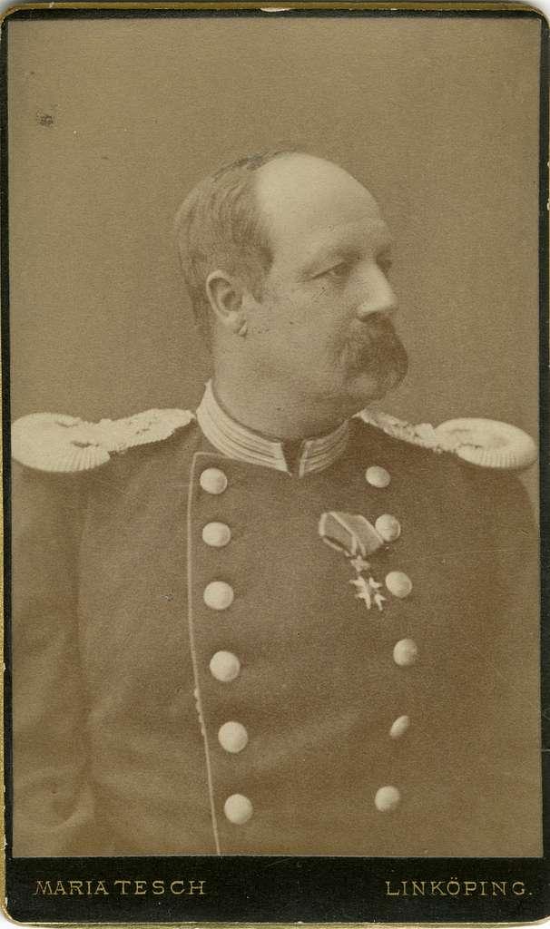 Porträtt av okänd officer vid Livgarde.