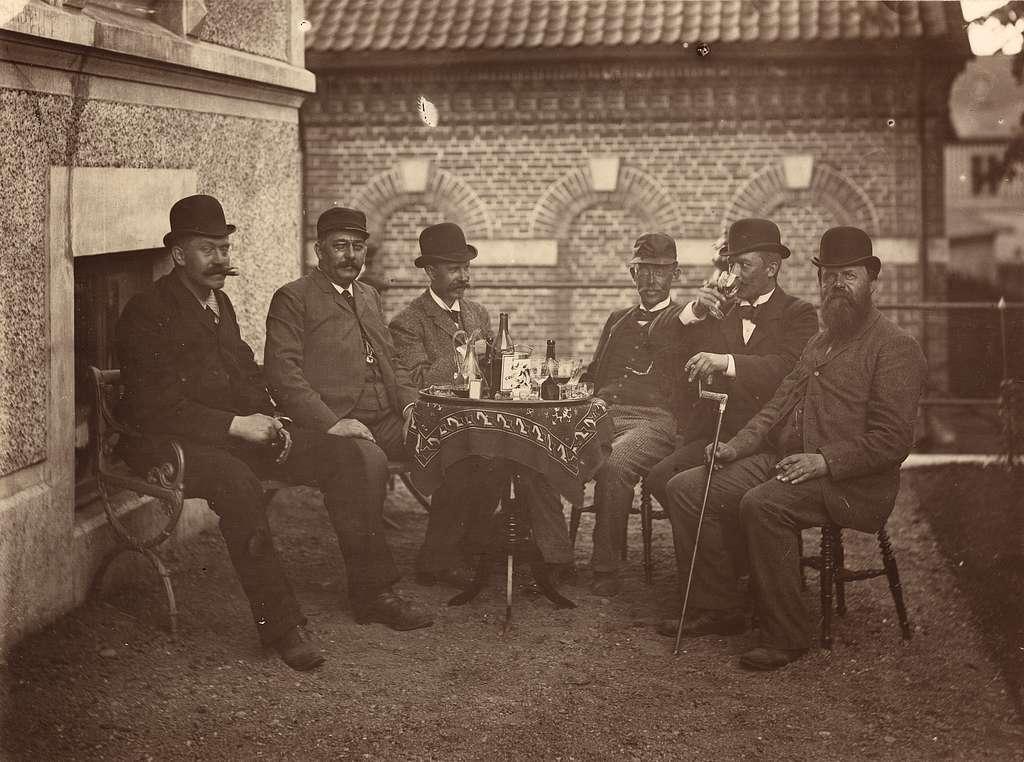 Järnvägsmän med blivande överdirektören Victor R Klemming.
