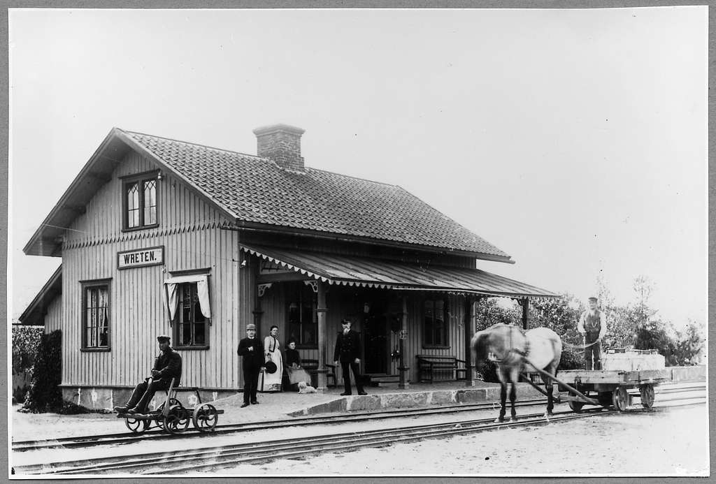 Wreten station i slutet av 1800-talet.
