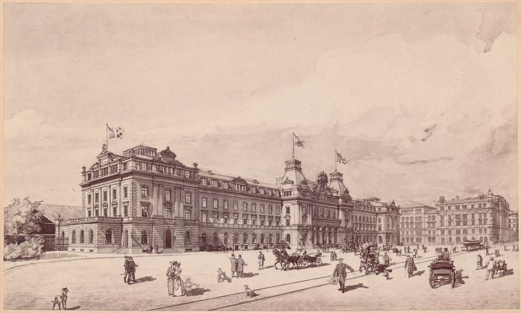 Stadsbild vid Stockholms Centralstation.