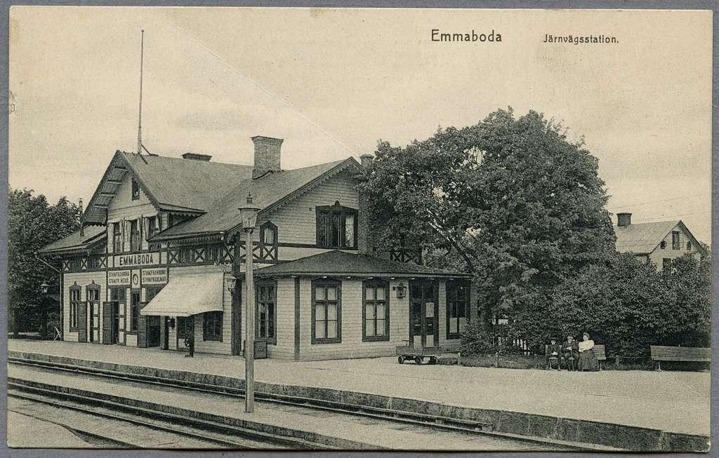 Emmaboda järnvägsstation.