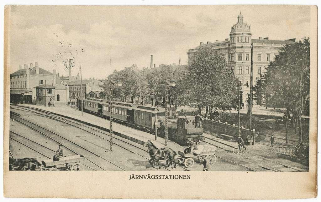Järnvägsstationen i Lund.