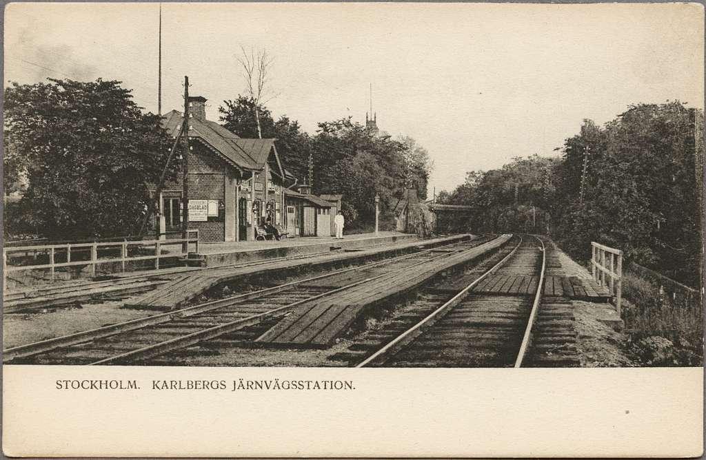 Karlberg järnvägsstation.