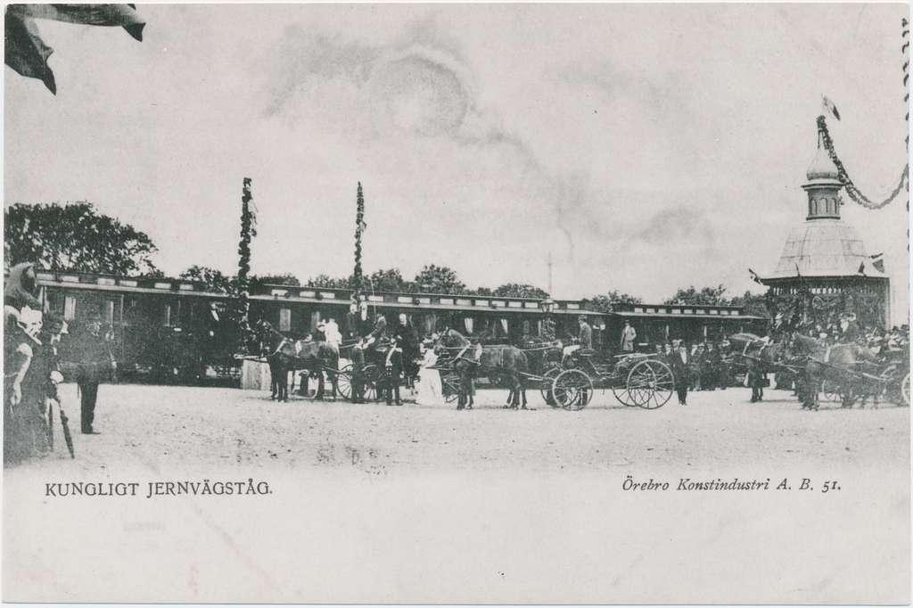 Kungligt tåg vid Örebro station.