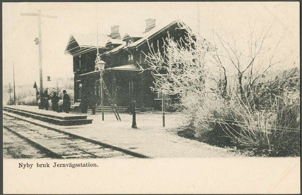 Stationen i Nybybruk.