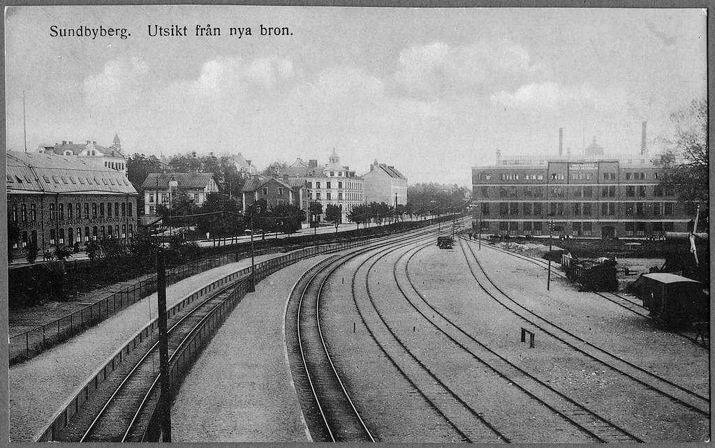 Utsikt över Sundbyberg station.