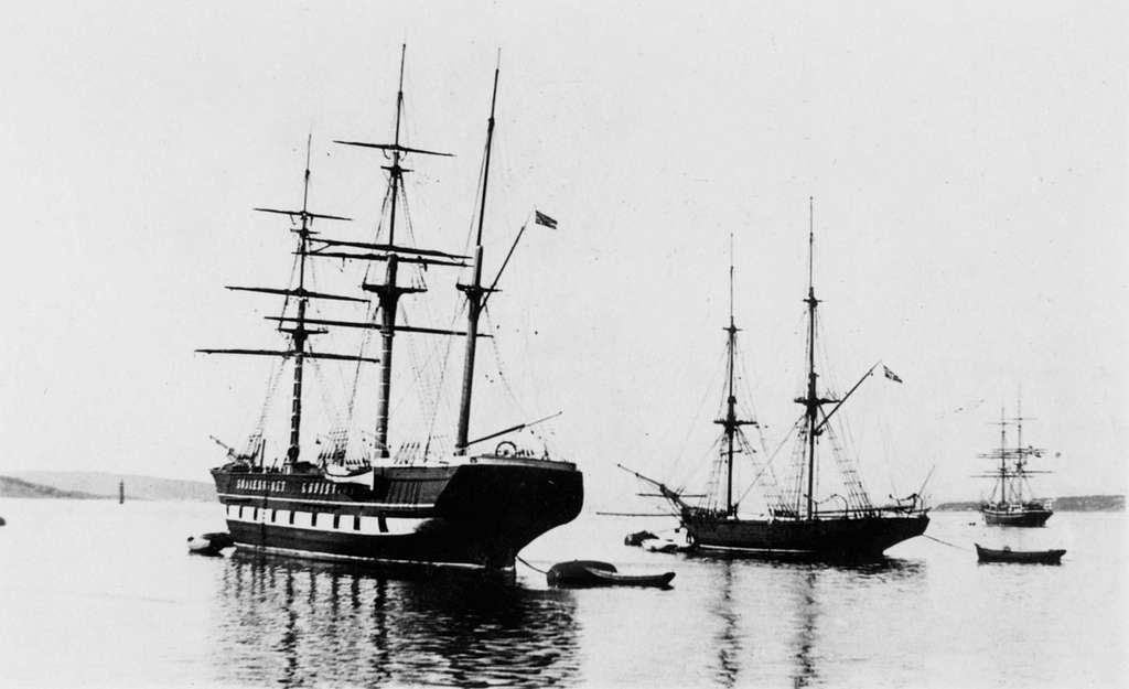 Skoleskip for anker