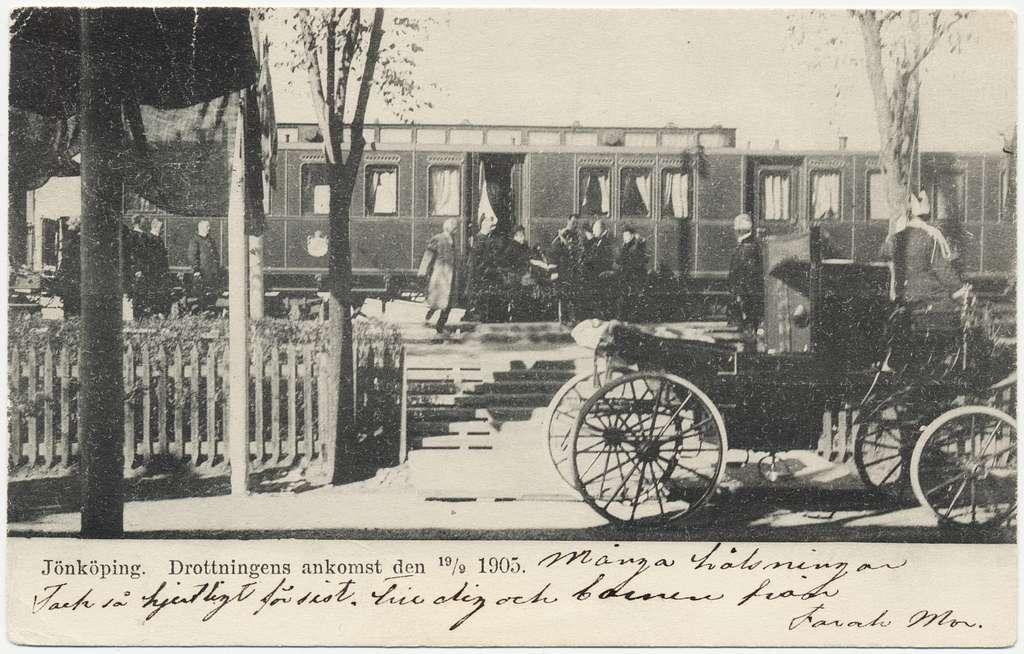 Drottningens ankomst till Jönköping 1905.