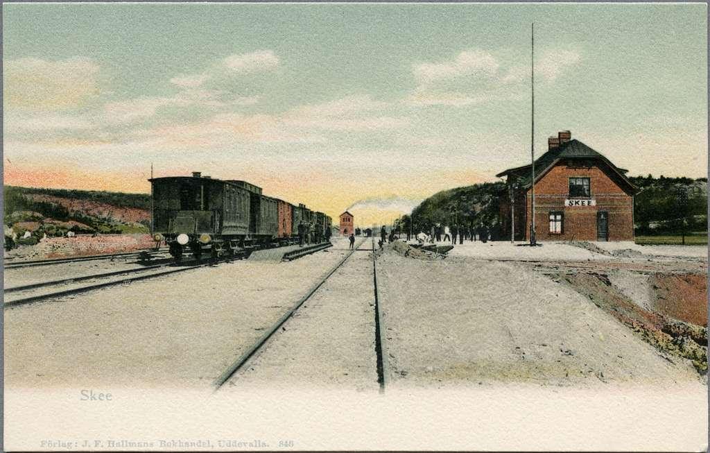 Järnvägsstationen i Skee. Statens Järnvägar, SJ.
