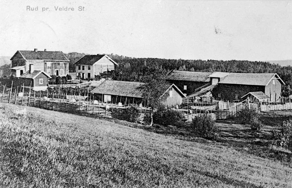 Oversikt, Rud gård, Rudshøgda, Veldre, Ringsaker.