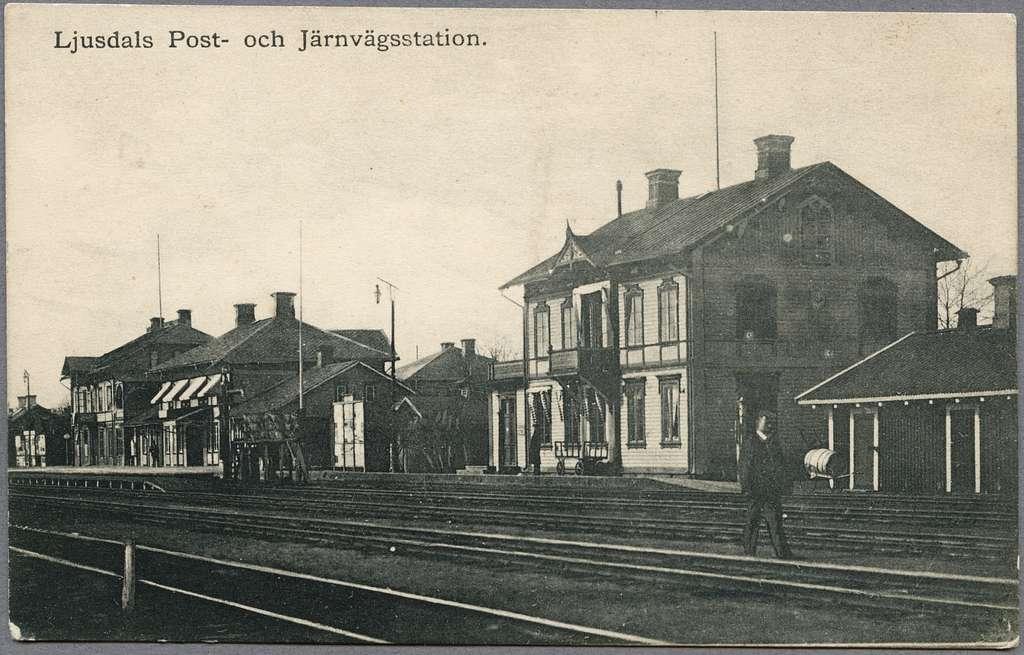 Stationsmiljö vid Ljusdal.
