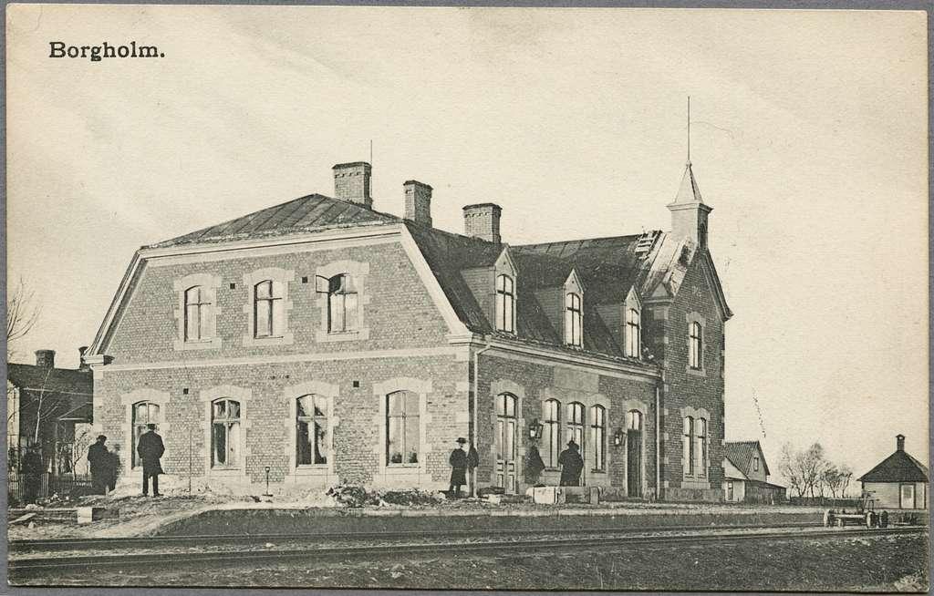 Borgholm järnvägsstation.