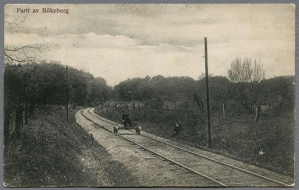 Man i dressin vid Bökeberg.