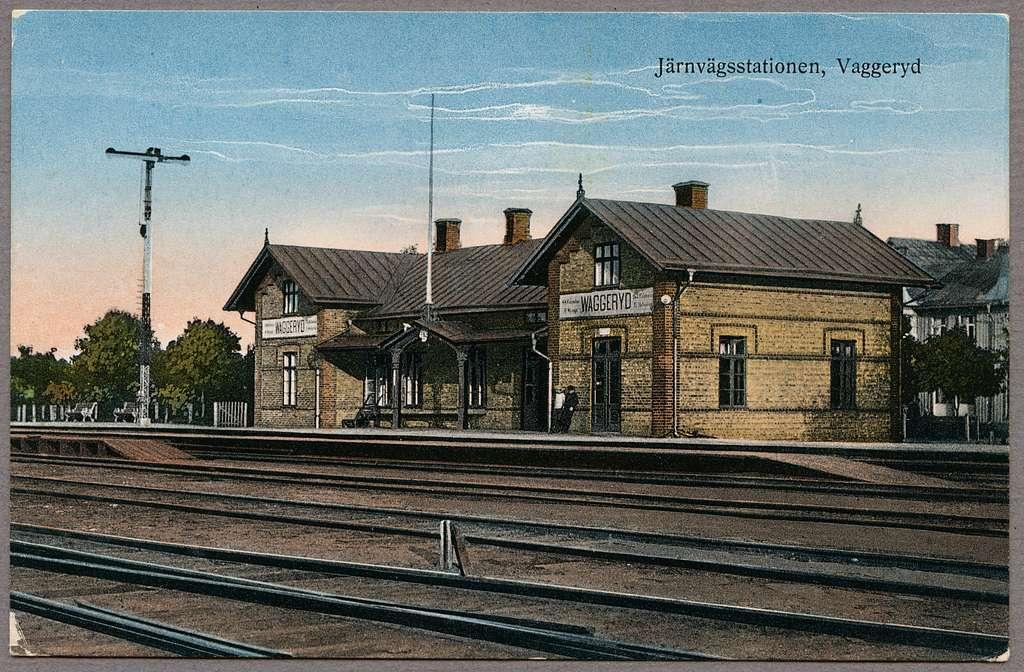Vaggeryds järnvägsstation.