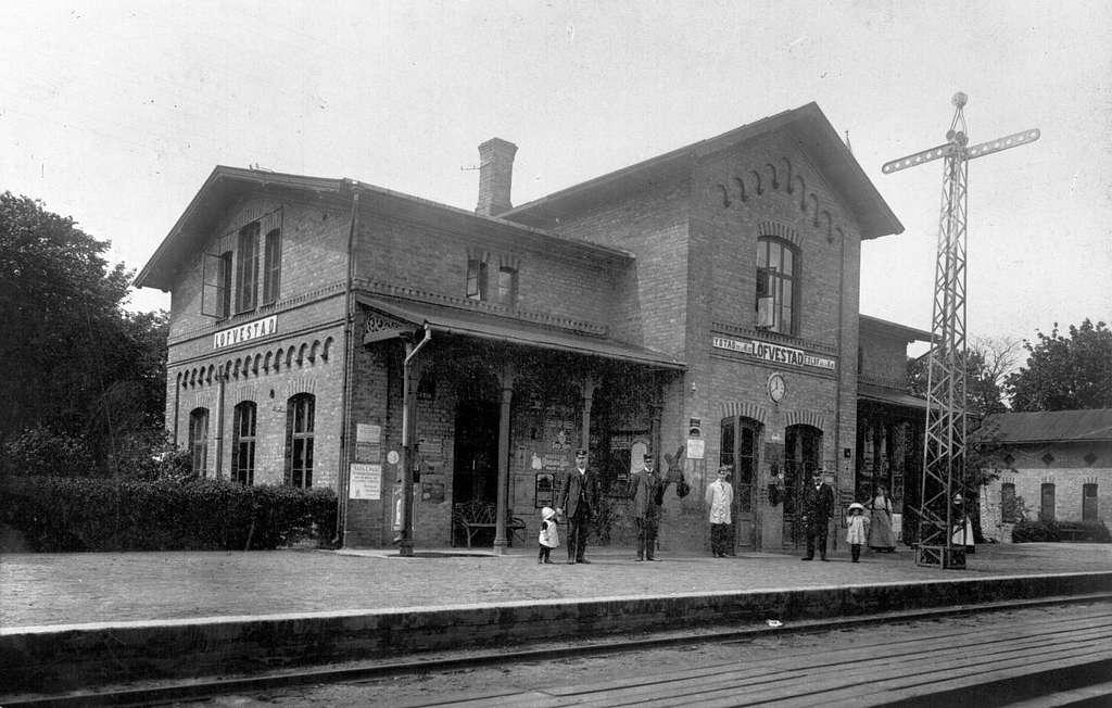 Ystad-Eslövs Järnväg, YEJ, Lövestad järnvägsstation.