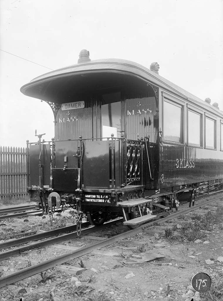 Gotlands Järnväg, GJ BCo 8. Vagn byggd i Linköping 1913.