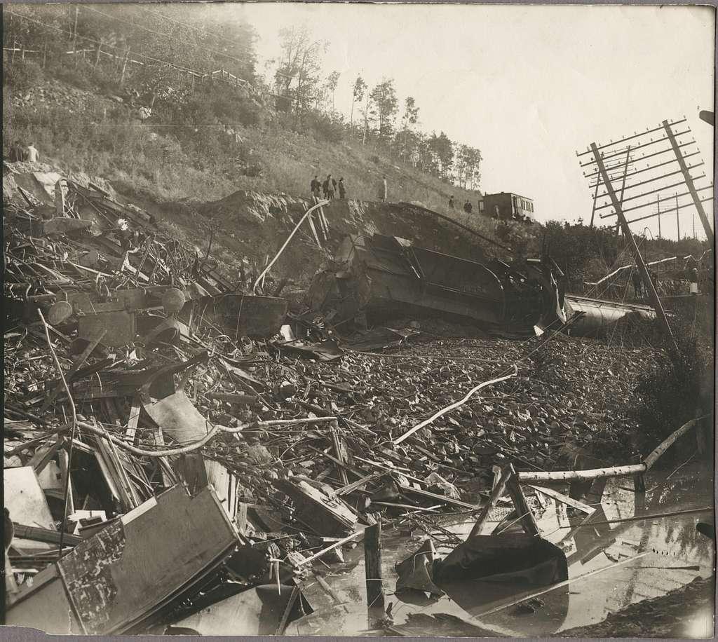Olycksplatsen för raset i Getå den 1 oktober 1918.