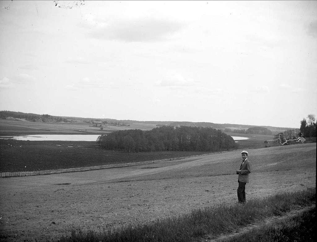 Landskapsvy, Altuna socken, Uppland maj 1919