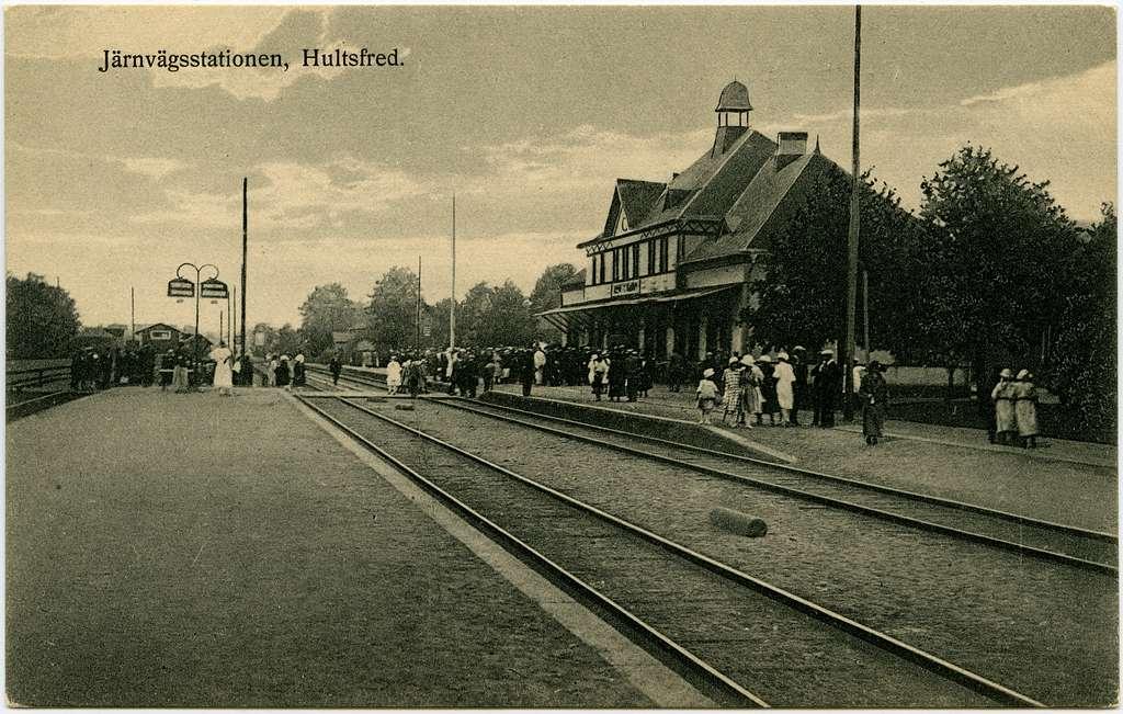 Järnvägsstationen i Hultsfred.