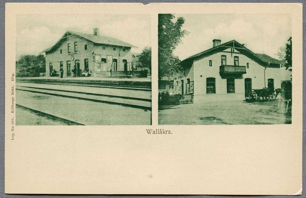 Stationshus från två olika riktningar.