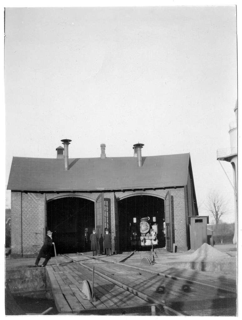 Lokstall med vändskiva 1922