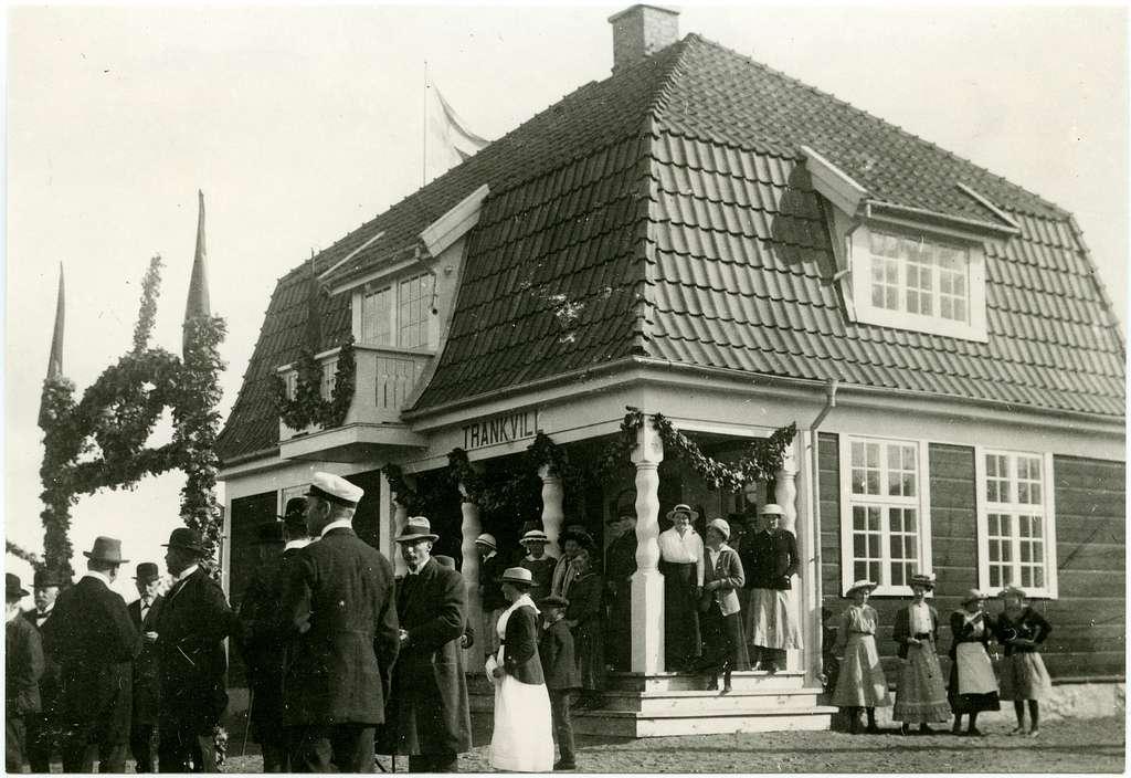Trankvill station.Invigning av banan till Gullabo by som blev driftplats 1917-09-15.Östra Blekinge Järnväg, ÖBlJ.