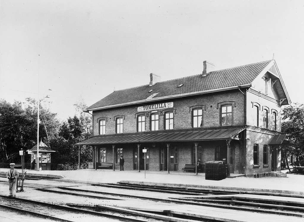 Simrishamn - Tommelilla Järnväg, CTJ, Tomelilla järnvägsstation.